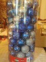 Blue Shatterproof Ornaments 101 ct. upc 713733931977 - $40.06