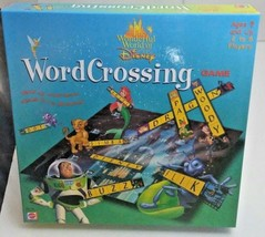 WORDCROSSING Board Game Mattel 2000 Wonderful World of Disney - $10.77