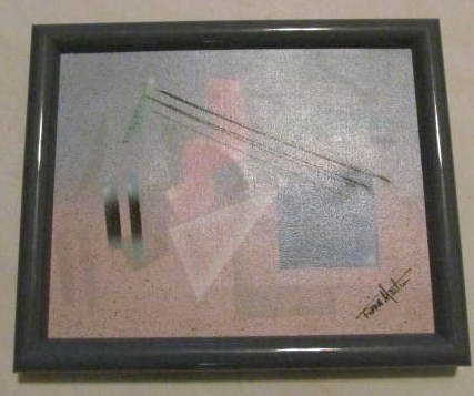 Vintage Diana Martin Abstract Acrylic Collectible Oil Painting, Hand Signed by A
