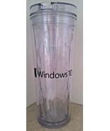 Microsoft Windows 10 Hot Cold Flip Sip Geometric Tumbler 18 oz Promo Lid... - $24.75