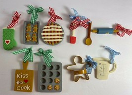 Lot of 10 Country Kitchen Baking Cooking Christmas Tree Ornaments - $17.81
