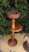 pedestal ashtray danish design 1960 Victorian plant stand art deco mid century image 2