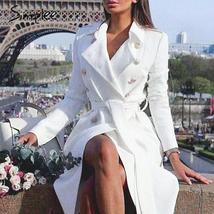English Vintage Celebrity Vogue Luxury Trench Coat in White image 2