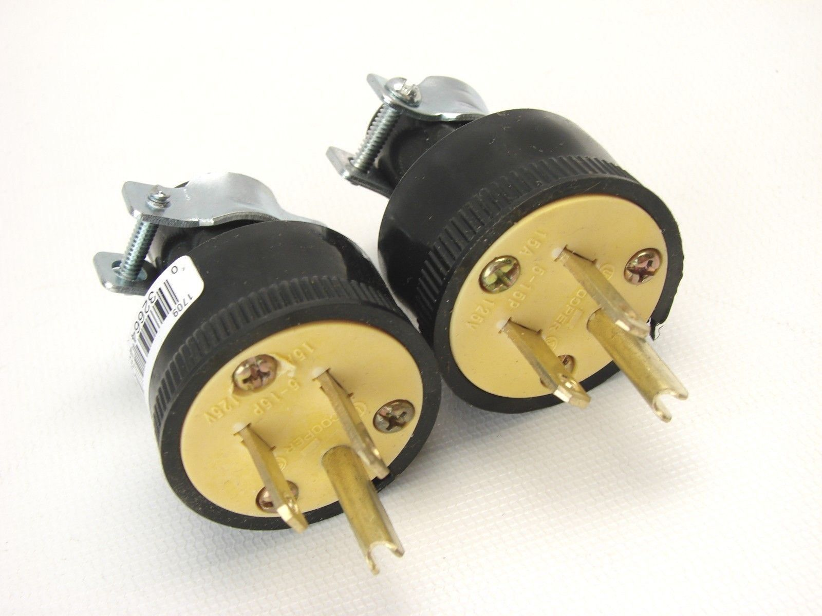 Arrow-Hart 6485 3-Wire Mini Male Locking Connector Cap Plug 125V 15A t12