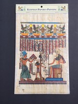 Hand Painted Egyptian Art Papyrus Paper Ancient Egypt Painting Hall of J... - $14.95