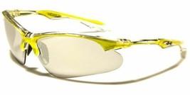 Large Wrap Around Half Frame Mens Sunglasses Cycling Baseball Sport Glasses Gree - $7.99