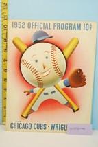 1952 Chicago Cubs Baseball Program Scorecard vs New York Giants Unscored #2 - $39.55