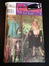 Simplicity 4944 Sewing Pattern, Child's Renaissance Costumes, Size A (3,... - $9.85
