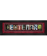 Centenary College Officially Licensed Framed Campus Letter Art - $39.95