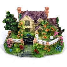 1Pcs Mini Resin House Miniature House Fairy Garden Micro Landscape Home ... - £6.31 GBP
