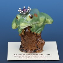 Birthstone Tree Frog Prince February Amethyst Miniatures by Hagen-Renaker