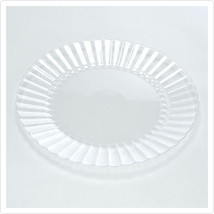 Clear 7 1/2 Inch Plastic Salad Plates/Set of 180 - $125.74