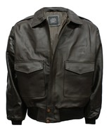 A-2 LEATHER AIR-FORCE FLIGHT BOMBER JACKET S-3XL - $152.70