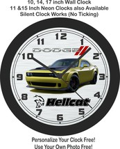 2021 Dodge Challenger Hellcat Gold Rush Wall Clock-Free US Ship - $27.71+
