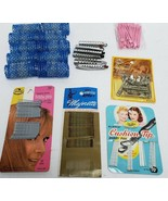 Vintage Hair Care Accessories Brush Pics Rollers Curlers Bobby Pin Pin C... - $29.99