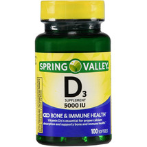 Spring Valley Vitamin D3 5000IU Bone/Immune Health 100 Ct  (Out of Stock) - $16.80