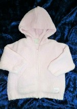 TCP The Children's Childrens Place Baby Girl Pink Chenille Hoodie Sweater 6-9 m - $17.81