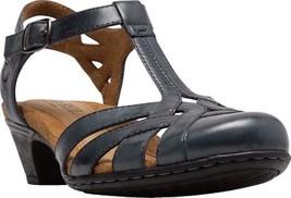 Rockport Cobb Hill Aubrey T Strap Sandals (Women's) in Navy Leather - $100 - $99.95