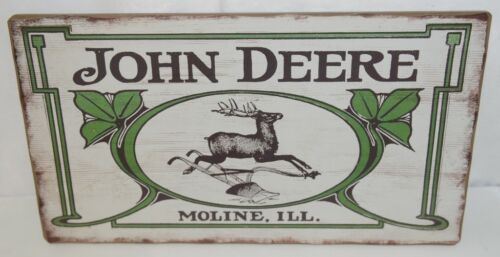 Open Roads LP67209 John Deere Vintage Logo Barn Wood Sign