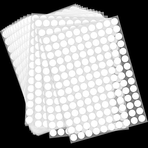 2800 Pieces Round Dot Stickers 3/4 Inch Diameter Circle Dot Labels White