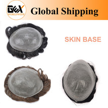 GEX Mens Toupee Hairpiece Thin Skin Base Human Remy Hair Replacement Systems- - $127.70+