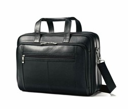 Samsonite Genuine Leather Checkpoint Friendly Briefcase Case Shoulder St... - $111.93