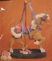 "Bucilla Carousel Horse 6059 Sealed Plastic Canvas Needlepoint Kit 9"" Vintage  - $19.95"