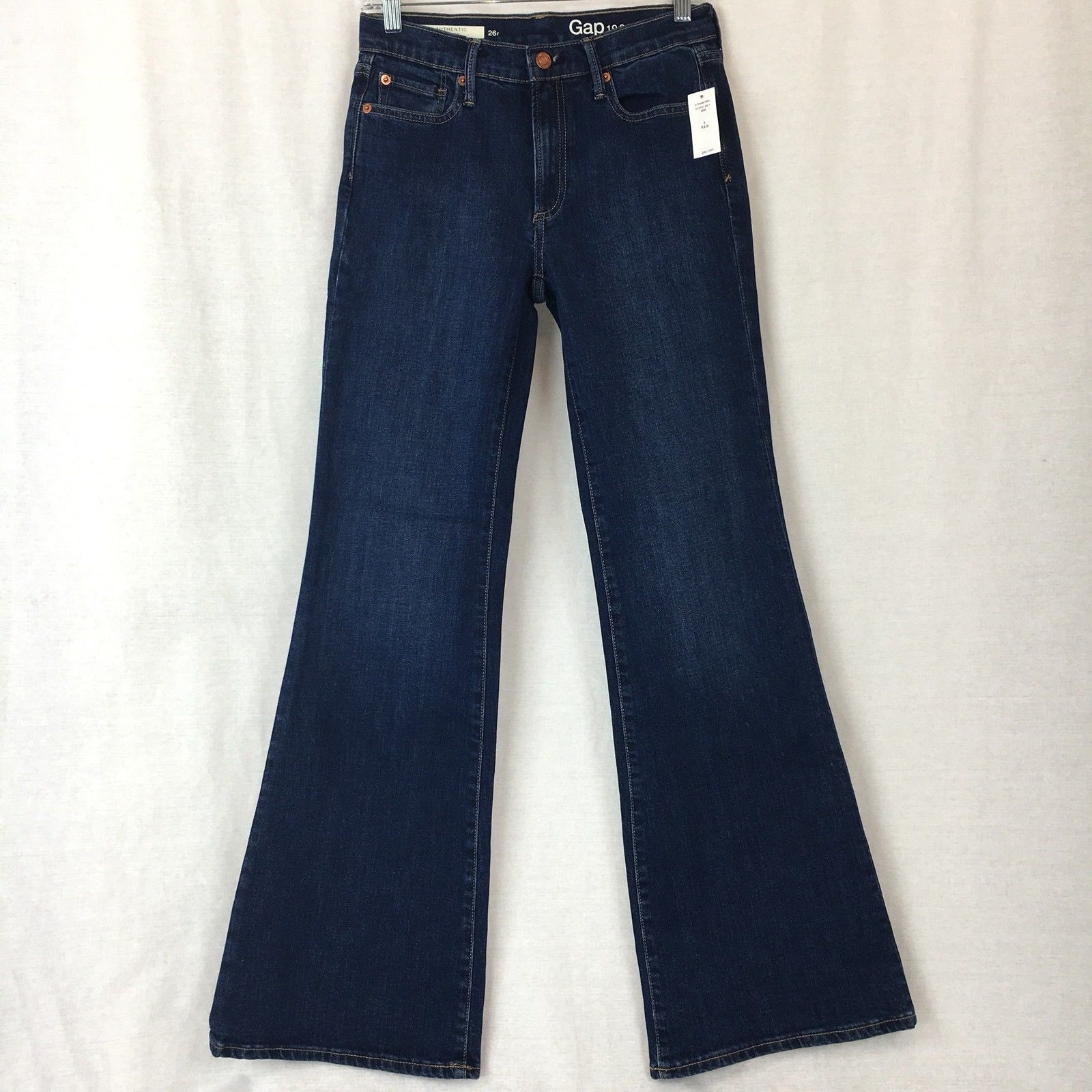 Gap Womens Jeans Authentic Flare Stone Blue Cotton Stretch Size 2Rx32