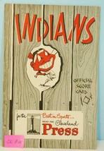 1951 Cleveland Indians Baseball Program v Detroit Tigers Wynn,Doby, Fell... - $38.61