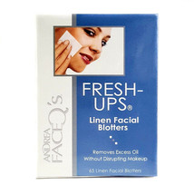 Andrea Face Q's FRESH-UPs 65 Linen Facial Blotters. Removes Excess Oil w... - $6.92