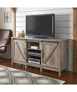 "Farmhouse TV Stand for TVs up to 60"" - $370.88"
