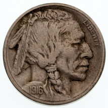 1916-S 5C Buffalo Nickel XF Condition, Natural Color, Nice Strike, Full ... - $74.25