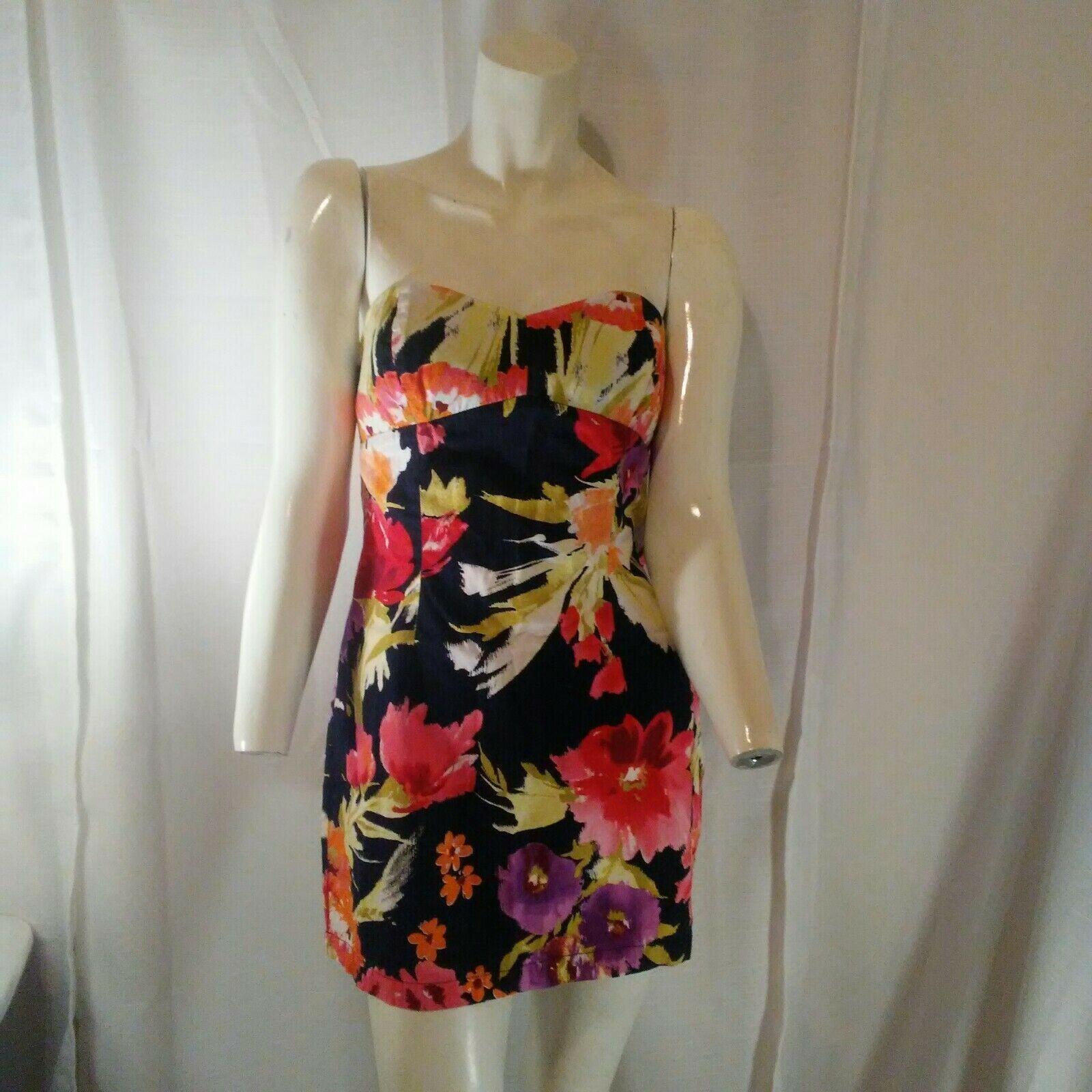 Forever 21 Womens Multicolored Strapless Floral Mini Dress Small image 7