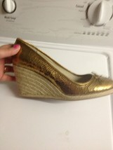94bf279959 Coach Ireland Bronze Shoes Wedge sz 10 Womens Wedge Leather Crackle Shoes -  $43.37