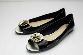 Kate Spade 8 Black Peep Toe Flats - $98.00