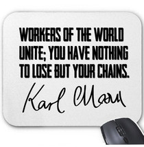 Karl Marx Quote - Mouse MAT/PAD Amazing Design - $11.97