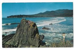 WA Beach Scene Cape Flattery Washington Rocky Coast Josef Scaylea 50s Po... - $3.99