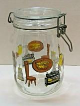 Vintage Glass Wire Lidded Jar Made In France Ameriana Design Eagle Homes... - $12.87