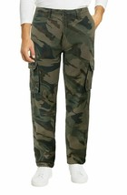 Men's Cotton Work Trousers Multi Pocket Camo Military Army Cargo Pants  40x28 image 1