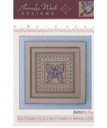 Pattern Play: Butterfly cross stitch chart AnnaLee Waite Designs  - $9.00