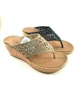 Skechers 31715 Luxe Foam Wedge Platform Slip On Sandals Choose Sz/Color - $41.60