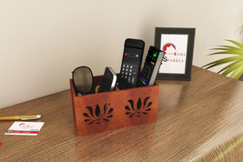 Home Sparkle Brown Remote Cum Mobile Holder / Organizer - $22.26