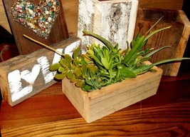 25Pc Lot Reclaimed Barnwood Rustic Wedding Centerpiece Boxes Succulent M... - $115.00
