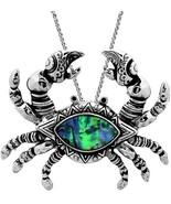 Gorgeous Large Crab Pendant Necklace 24 Inches Stainless Steel Chain Aba... - $37.82