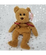 "Vintage Original TY Beanie Baby-Curly Bear-Brown 8.75""-NWT & Plastic Cov... - $45.64"