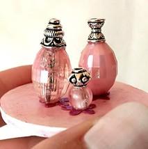 Miniature Perfume Bottle Set, Vanity Tray. Dollhouse Accessories Bathroo... - $16.83
