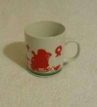 AVON CHRISTMAS 1984  Mr Santa Claus & Elves Silhouette Cup Mug - $2.49
