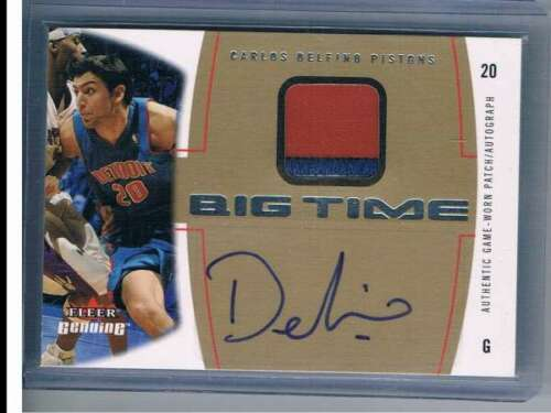 2004-05 Genuine Big Time Autographs Patches #CD Carlos Delfino NM-MT NM-MT MEM A
