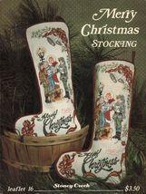 1988 Cross Stitch Merry Christmas Stocking Carolers Stoney Creek Pattern  - $12.99
