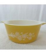 Vintage 70s Pyrex Butterfly Gold Round Cinderella Casserole Bowl 474-B 1... - $29.65